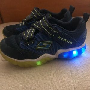 Boys Skechers light up shoes